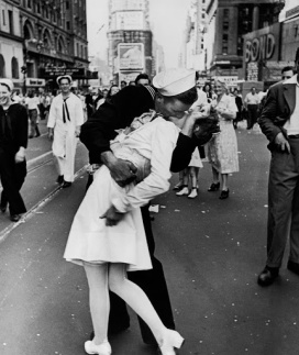 August 14, 1945: Times Square and a Couple of Kisses